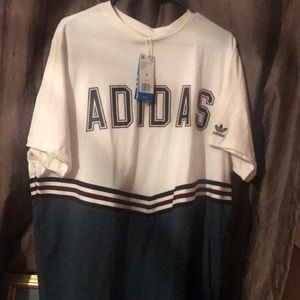 Adidas Adibreak White and Navy Collegiate T-shirt